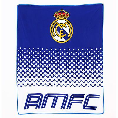 Real Madrid Cf Large Fleece Blanket New Official Football