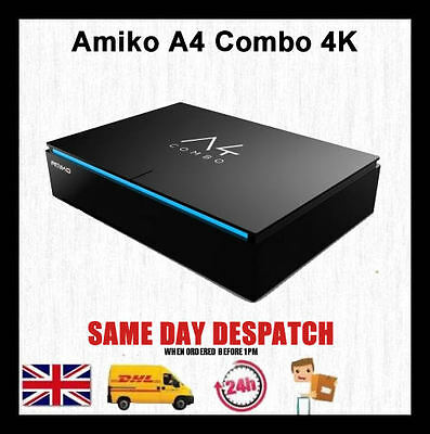 Amiko A4 Combo 4K Digital Satellite T2 Terrestrial / Cable receiver Media Player