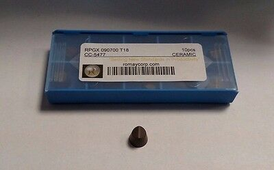 Rpgx 090700 T18 Cc-5477 Grade Ceramic Inserts Romay Corp Brand New Pack Of 4