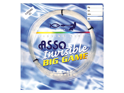 Monofilo Asso Fluorocarbon 100 % Invisible Big Game Diverse Misure In Offerta