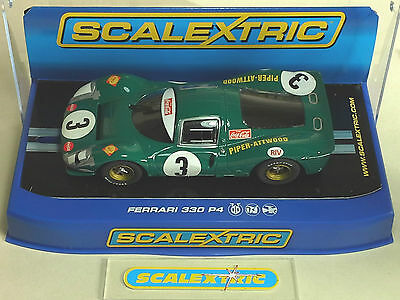 SCALEXTRIC FERRARI 330 P4 'Piper - Attwood' #3 C3098 (MINT BOXED) Kyalami 1968