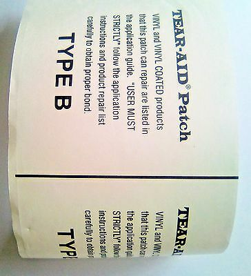 """Tear Aid  type B 3"""" wide packs - instant repair for bouncy castles and ponds"""