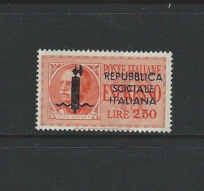 Italy - 2.50L Vittorio Emanuele Iii Military Stamp (1943) Mnh