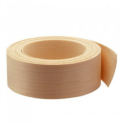 "Wood Veneer Edgebanding Edge Tape Pre-Glued 2"" x 25' Cherry"
