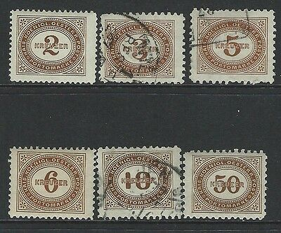 Austria - #j2//#j9 - Postage Due Mint / Used Partial Set (1894-1895) Mnh