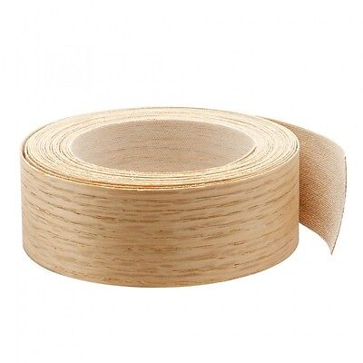 "Wood Veneer Edgebanding Edge Tape Pre-Glued 2"" x 25' Red Oak"