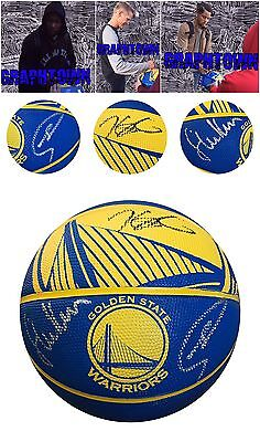 Kevin Durant Steph Curry Steve Kerr Signed Autographed Logo Basketball Proof Coa