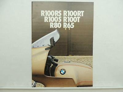 Vintage BMW Motorcycle Brochure R100RS R100RT R100S R100T R80 R65 L10071