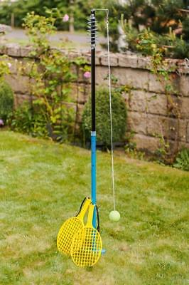 Classic Outdoor Swinging Ball Tennis Game Set Kids 2 Rackets Swing Garden Fun