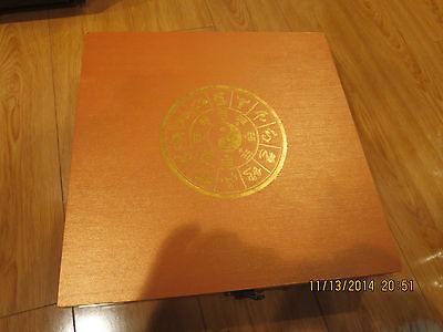 China New Year  Zodiac Sings And Budda Gold Plated In Two Nice  Boxes Collection