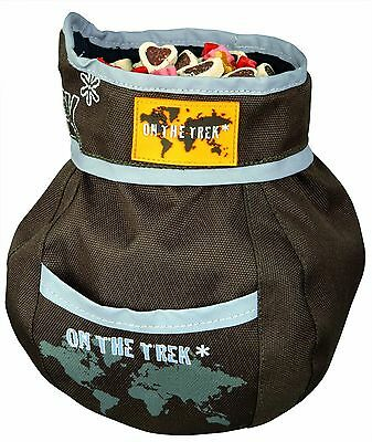 Trixie Luxury On The Trek Dog Treat Snack Bag- One Handed Access- Snap Lock -