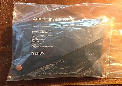 American Airlines SEALED 2017 COLE HAAN Transcon Business Class Amenity Kit