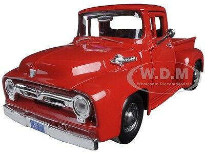 1956 Ford F-100 Pickup Red 1:24 Diecast Model Car By Motormax 73235