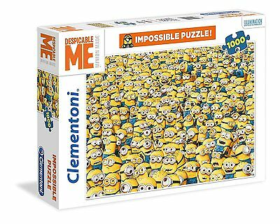 NEW! Clementoni Impossible Puzzle Despicable Me Minions 1000 piece jigsaw 31450