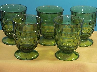 Colony Whitehall  Green Avocado  Footed Juice glasses 5