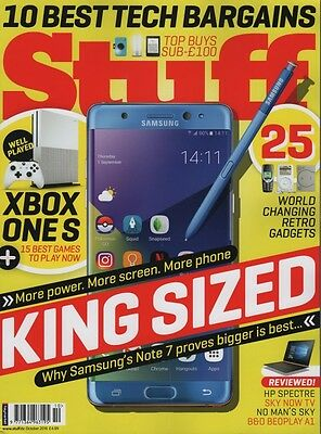 Stuff Magazine October 2016 Xbox One S, Samsung Note 7, B&O Beoplay A1, Sky Now