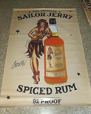 HUGE Sailor Jerry Spiced Rum Hula Girl Banner Sign 7'x4' New 2015 Fathers day