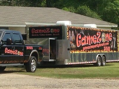 30' MOBILE VIDEO GAME TRUCK AND/OR BUSINESS, gamezonepartytruck.COM