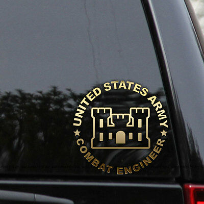 US Army Combat Engineer Decal Sticker Veteran Car Truck Window Wall Laptop