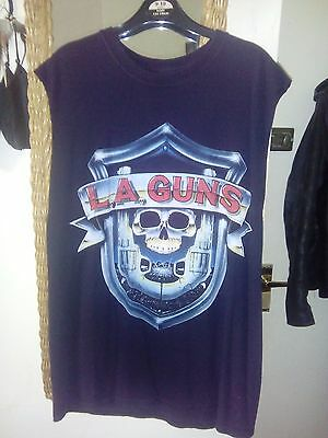 LA Guns Merchandise Bundle - Vinyl, T Shirt, Patches