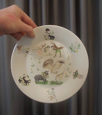 Arklow Child's Nursery Rhyme Plate Made in Republic of Ireland Vintage Baby Gift