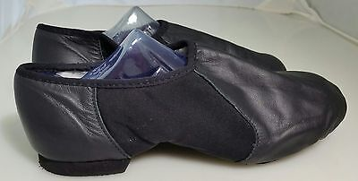 """BLOCH Girls Youth Soft Leather Black Dance Jazz Shoes Size 6 1/2"""""""