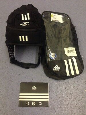 Adidas Rugby Head Guard Black/White Small IRB Approved