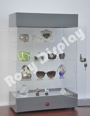Acrylic Display Tower Case Small Items Display Show Case #AD-F6804SL-JW