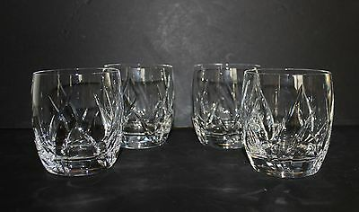 Mikasa Cut Crystal Agena Double Old Fashioned Glasses Set of 4