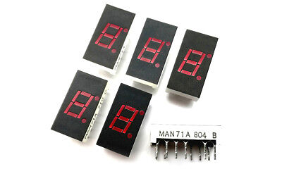 6 x MAN71A Common Anode Red Led 7-Segment Display (6 pcs)