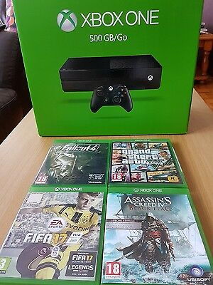 X BOX ONE with 4 games