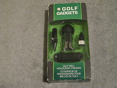 GOLF BALL MONOGRAM STAMPER by GOLF GADGETS BOXED *NEW CONDITION*