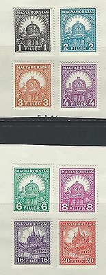 Hungary - #428//#436 - Crown / Cathedral Mint Stamps (1928) Mh