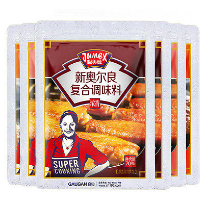 6X70g Chinese Food New Orleans Chicken Wing Marinade Powder 奥尔良烤翅腌料 蜜汁/香甜/浓香 各2袋