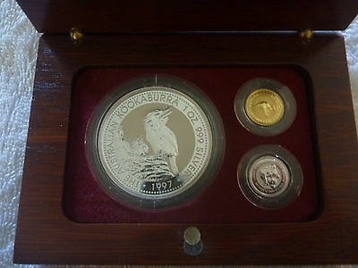 1997 Australian Silver, Gold, Platinum Proof Set