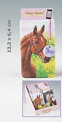 Depesche 7435_A Horses Dreams Mobile Phone Case Brown with Pendant in purple