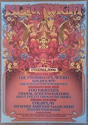 Isle of Wight Festival 2006 - ORIGINAL poster NOT REPRO - Coldplay Lou Reed etc