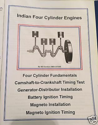 1928 - 1942 Indian4 Four Cylinder Battery & Magneto Ignition Timing Manual