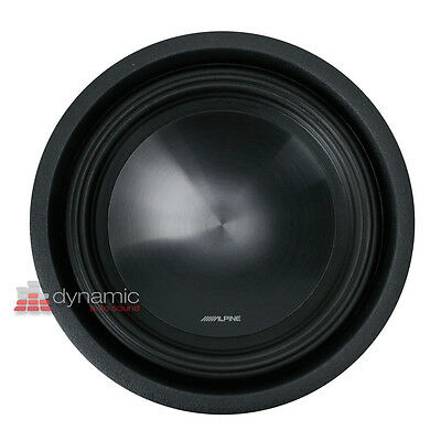 """ALPINE SWT-10S2 Car 10"""" SWT Series Single 2-ohm Shallow Mount Truck Subwoofer"""