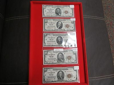 Complete Set Of 1929 Federal Reserve New York Notes. High Grade