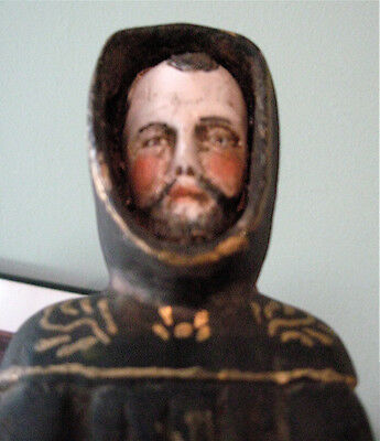 Estate Sale Find: Old Hand-carved glass eye santos St. Francis of Assisi + relic