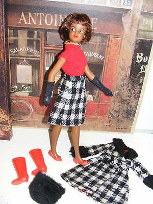 RARE BLACK TAMMY Ideal DOLL VINTAGE 1965 African American Grow up WINTER WEATHER