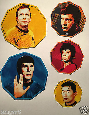STAR TREK ORIGINAL fabric Patches CAPTAIN KIRK SPOCK sew on iron universe red me