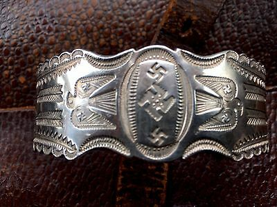 Fred Harvey Whirling Log Bracelet 1930's Ingot Navajo Native