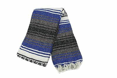 """Traditional Mexican Yoga Blanket One Assorted Vibrant Colour 52"""" x 76"""", NEW"""