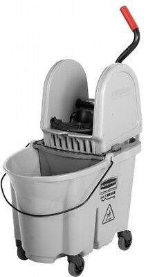 Rubbermaid Commercial 1863899 Executive Series WaveBrake Down-Press Mop Bucket,
