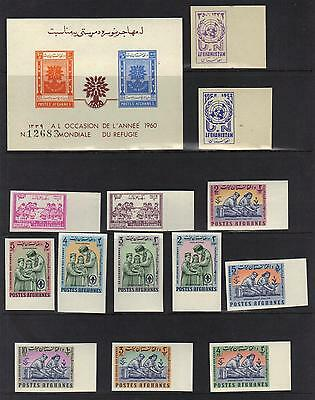 AFGHANISTAN 1960s COLLECTION OF IMPER IN SETS & SOUVENIR SHEETS MOST UNLISTED NH