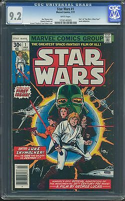 Star Wars #1 Cgc-Graded 9.2 Near Mint- White Pages July 1977 Marvel