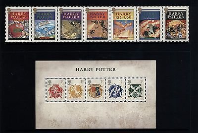 GB / UK - Stamps - 2007 HARRY POTTER - Strip of 7 & Mini Sheet - MNH