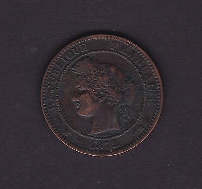 France 1872 Coin 10 Centime